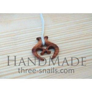 "Wood necklace pendant ""Amulet"""