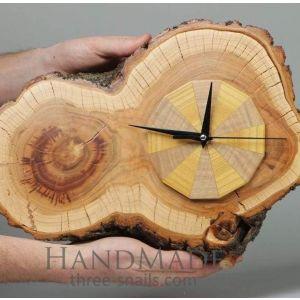 """Wood wall clock """"View at future"""""""