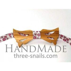 "Woodenbow-tie ""Flowers"""