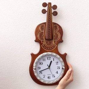 "Wooden clock ""Violin"""