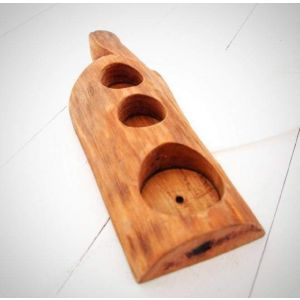 "Wooden glass holder ""Rustic luxury"""