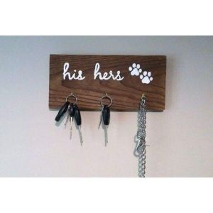 Wooden hook rack
