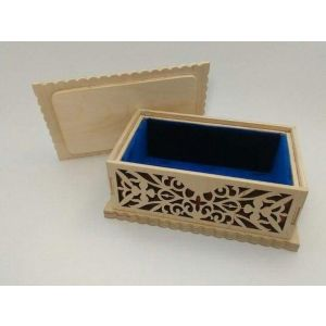 "Wooden jewelry box ""Velvet cuddles"""
