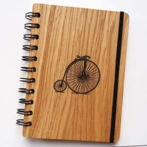 """Wooden notebook """"Bicycle"""""""