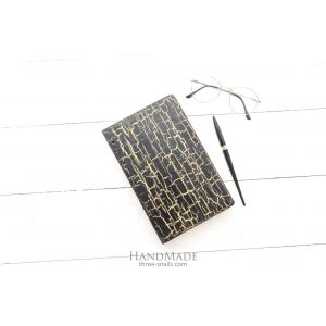 "Wooden notebook black yellow ""Dragon style"""