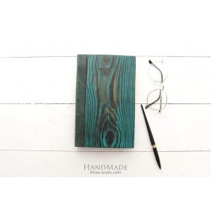 "Wooden notebook green ""Turquoise style"""