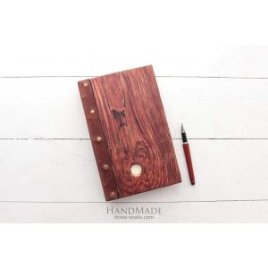 "Wooden red notebook ""Red wood"""