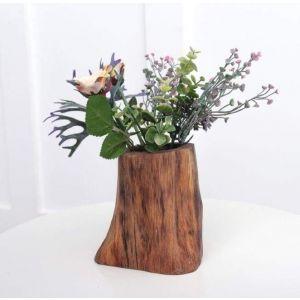 "Wooden rustic vase ""Ethnic spirit"""