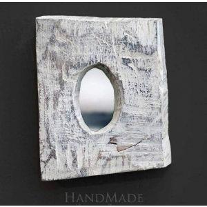 Wooden scratched mirror