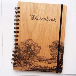 "Wooden sketchbook ""Down the river"""