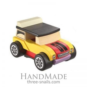 Wooden toy mini cabriolet