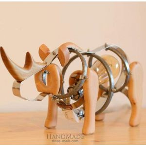 Wooden toy rhino