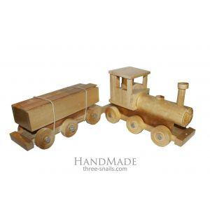 "Wooden toy train ""Happy train"""