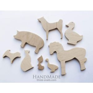 """Wooden toys for kids """"Farm animals"""""""
