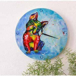 "Wooden wall clock ""Dog"""