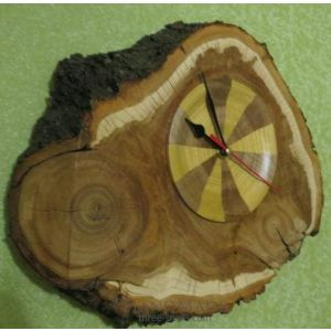 """Wooden wall clock """"The magic of the time"""""""