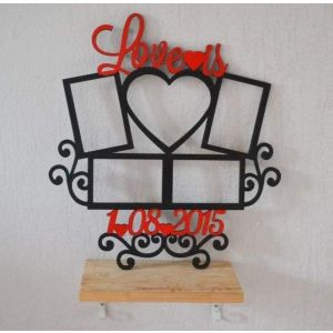 "Wooden wall hangings ""Love is"""