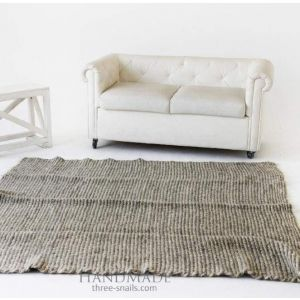 "Wool area rug gray ""Style"""