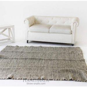 "Wool area rug gray ""Style"""