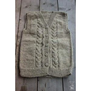 "Wool knitted vest ""Hanna"""