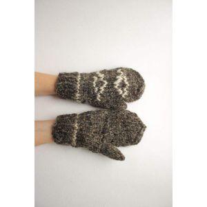 "Wool mittens ""Lozenge pattern"""