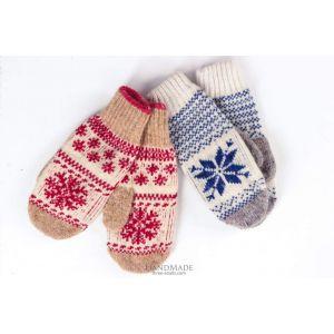 """Wool mittens""""Snowflake"""""""