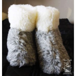 "Wool ugg children slippers ""Grey Elephant"""