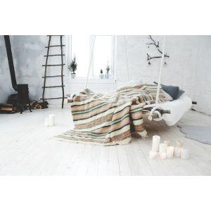 "Woolen blanket ""Ornament stripes"""