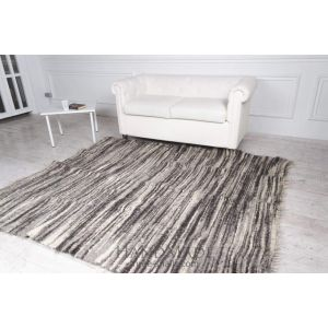 "Woven wool carpet ""Stripes"""
