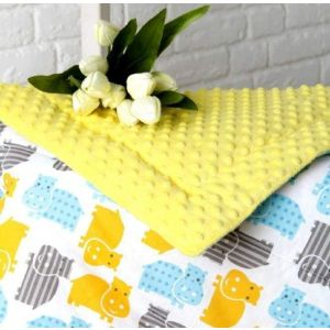 Yellow minky blanket