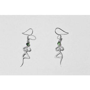 """Zirconia earrings """"Yoga man"""""""