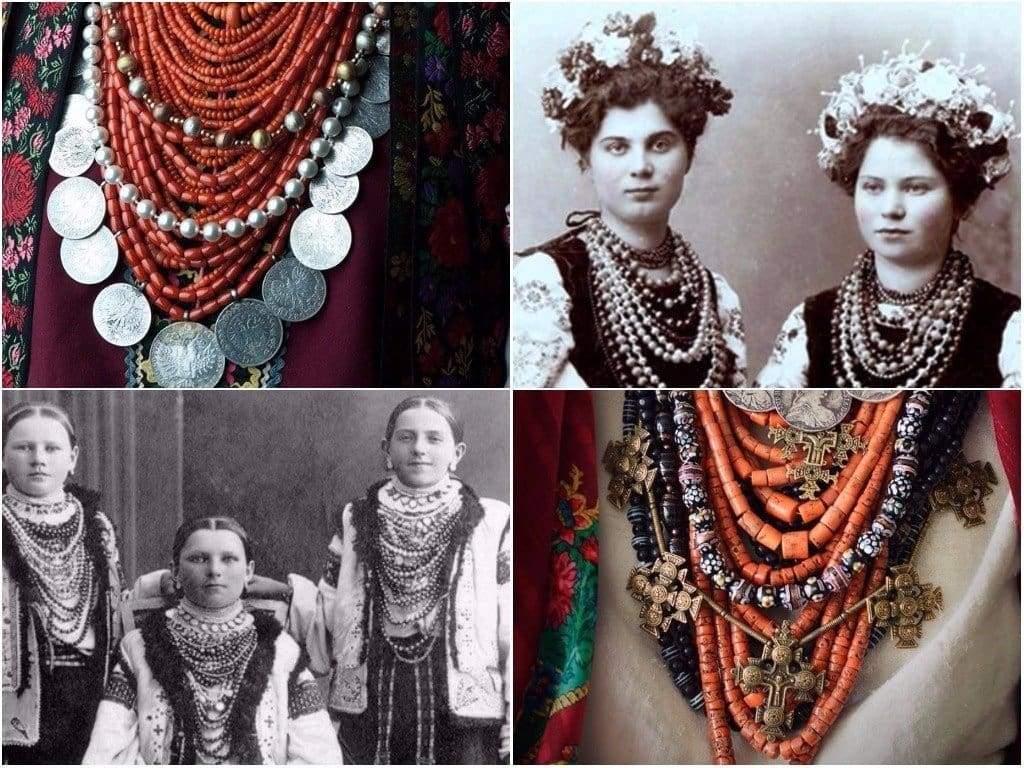 Украинское ожерелье: история, символика, виды украшений
