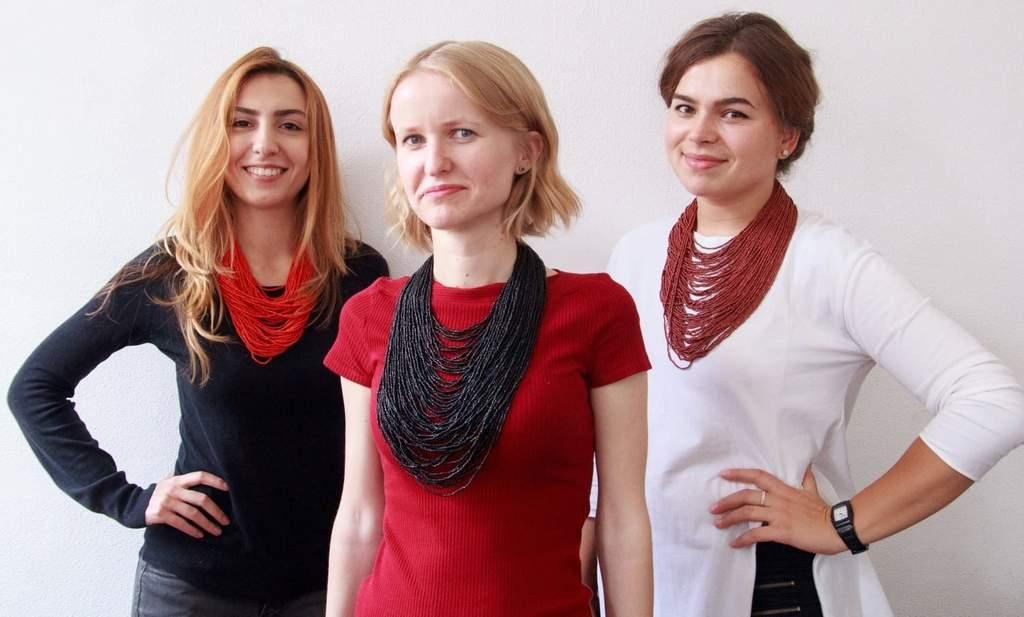Украинские ожерелья из бусин