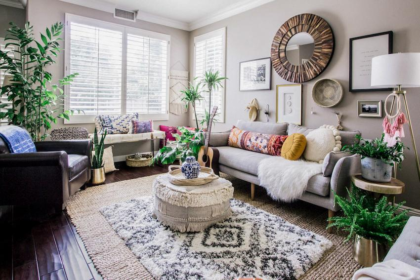 Boho home decor: good vibes of naughty riot of colors