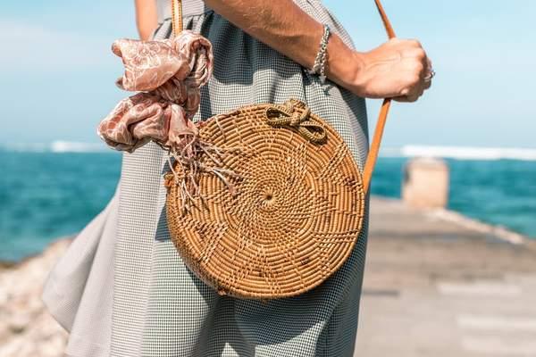 сумка з ротангу