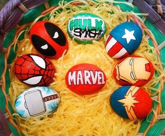 герої марвел на Великдень