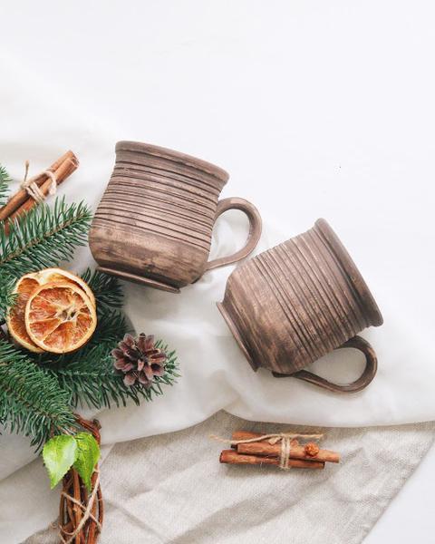 глиняные чашки для кофе