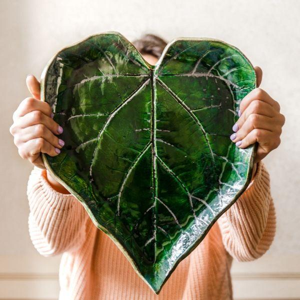 leaf shape plate