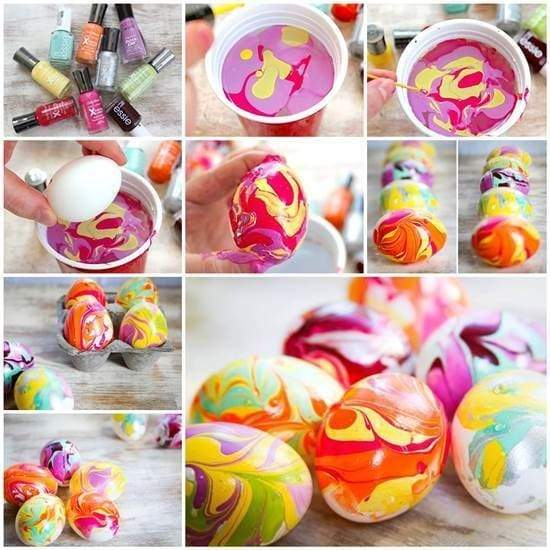 bright eggs for Easter