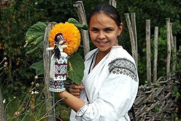Ukranian motanka doll