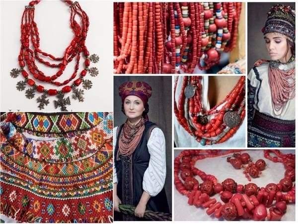 українські прикраси на шию