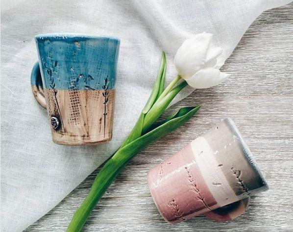 spring handmade mugs