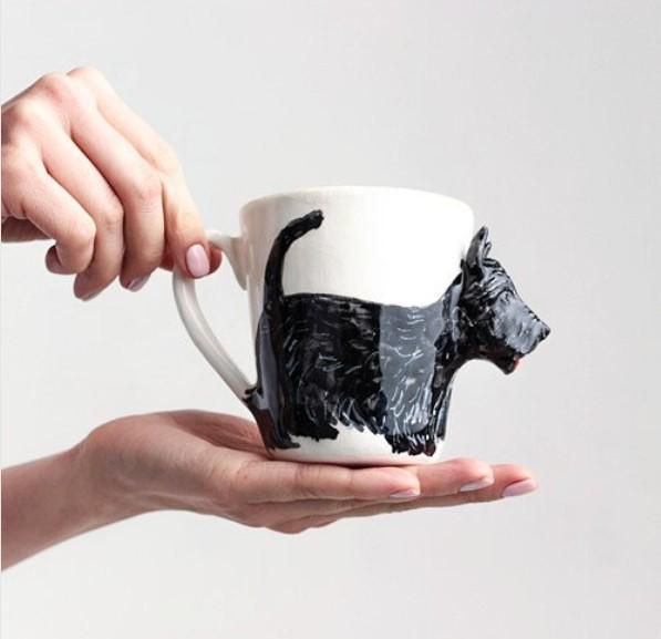 чашка с собакой