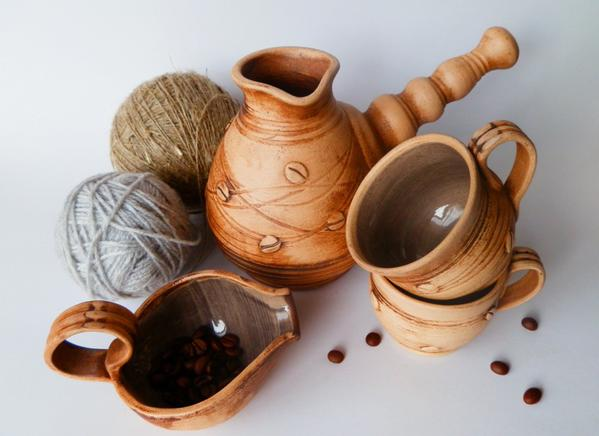 clay pitcher set