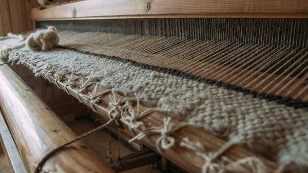 traditional wool loom