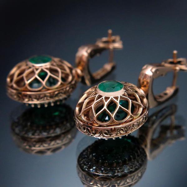 золоті сережки-трансформери