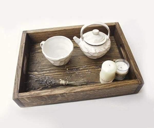 "Handmade wooden tray ""Care"""