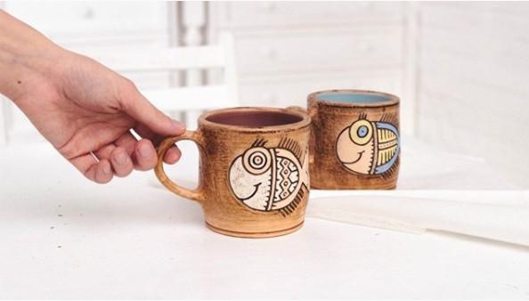 чашки с рыбками