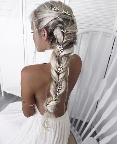wedding flower braid
