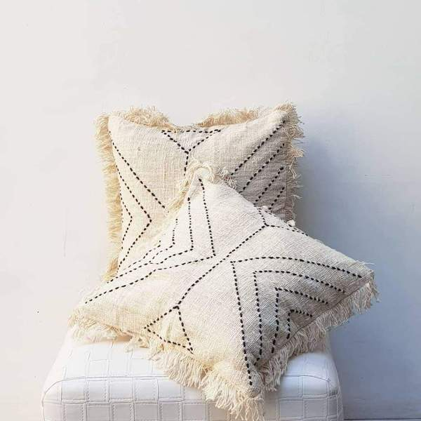 handmade pillows in boho style